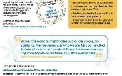 Holiday Newsletter: Coming to a new country is overwhelming, but you can help